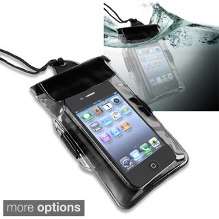 INSTEN Black Universal Waterproof Bag for Cell Phone/ PDA
