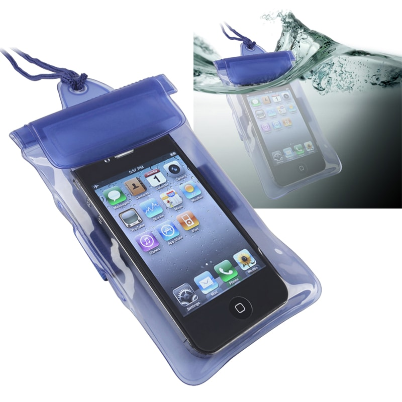 Insten Universal Blue Waterproof Bag Phone Case Cover For Cell Pda