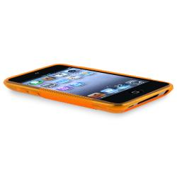 Frost Orange S Shape TPU Rubber Case for Apple iPod Touch Generation 4 - Thumbnail 1