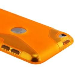 Frost Orange S Shape TPU Rubber Case for Apple iPod Touch Generation 4 - Thumbnail 2