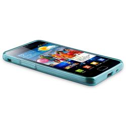 INSTEN Blue Circle TPU Rubber Skin Case Cover for Samsung Galaxy S II i9100 - Thumbnail 2