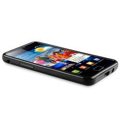 Black Jelly TPU Rubber Skin Case for Samsung Galaxy S II i9100 - Thumbnail 2
