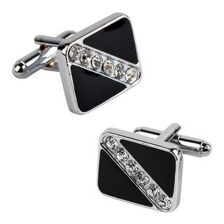 Zodaca Black Square with 6 Jewels Cufflinks