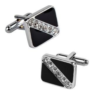 Zodaca Black Square with 6 Jewels Cufflinks