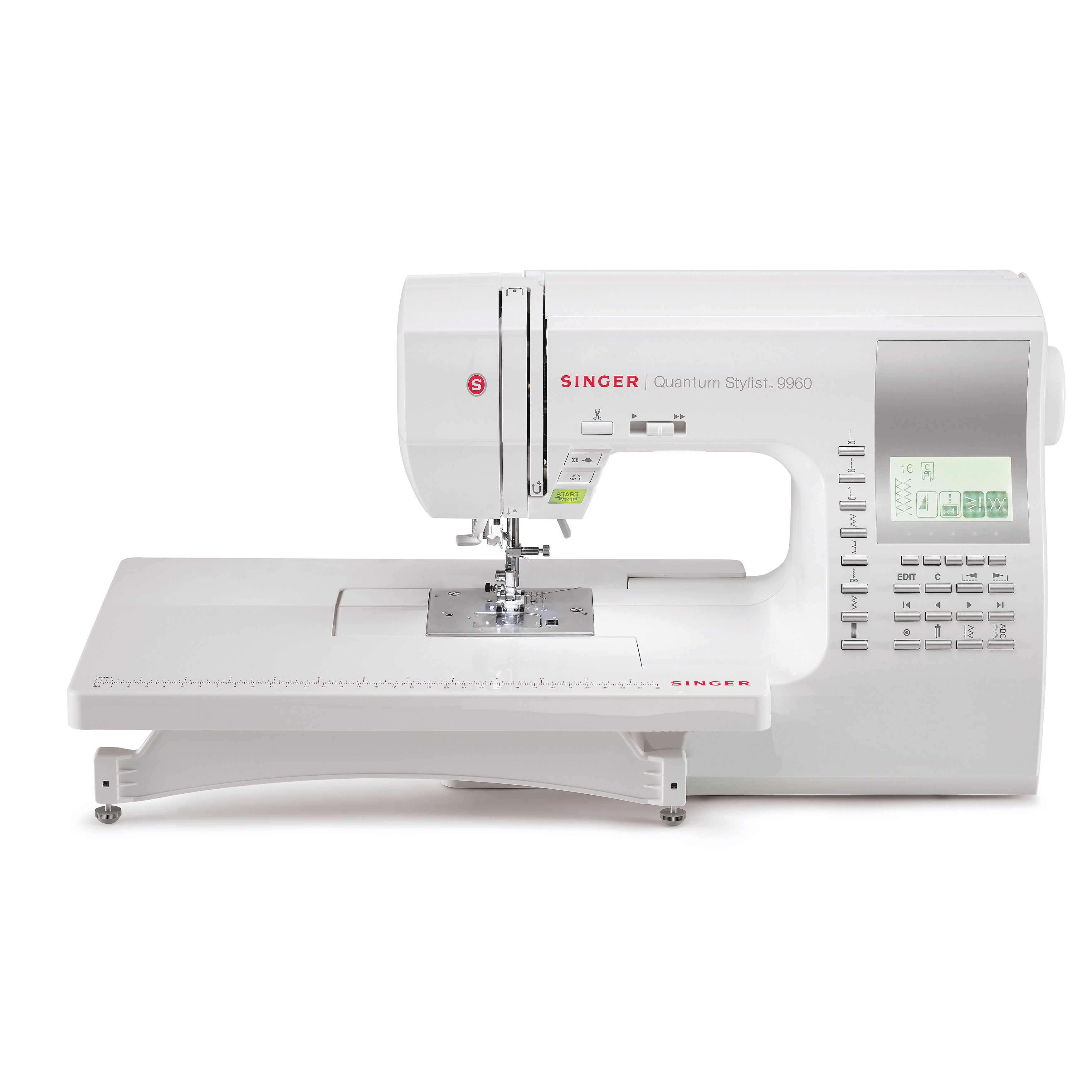 SINGER SEWING CO. 9960 Quantum Stylist Sewing Machine, Wh...