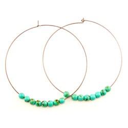 Pretty Little Style Turquoise Hoop Earrings