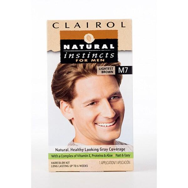 Clairol Natural Instincts for Men #M7 Lightest Brown (Pack of 4)
