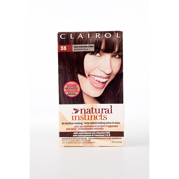 Clairol Natural Instincts #35 Ebony Mocha Brown/Black (Pack of 4)