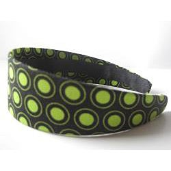 Crawford Corner Shop Black and Green Circles Headband