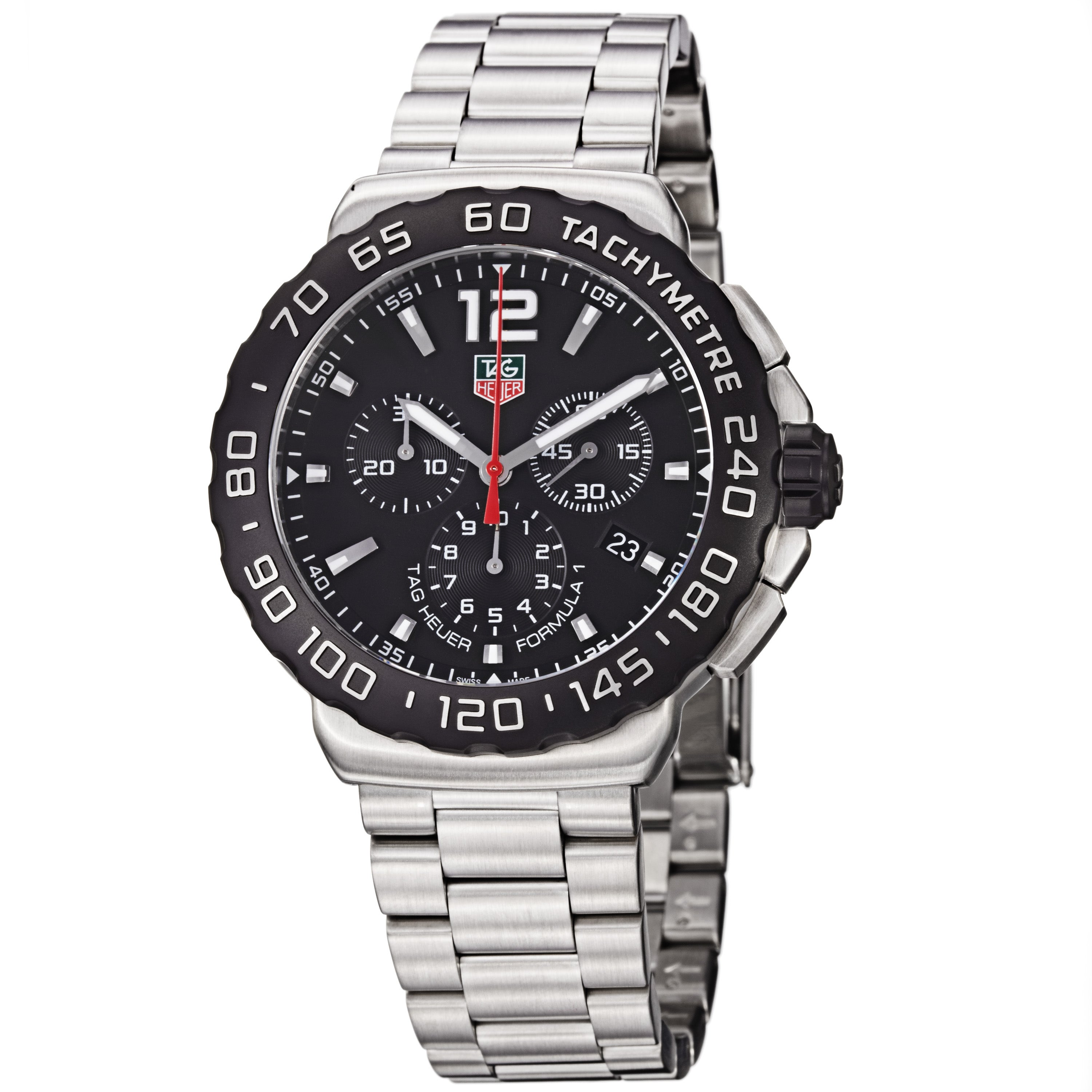 Tag Heuer Men's CAU1110.BA0858 'Formula 1' Black Dial Chronograph Steel Watch