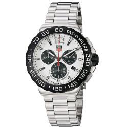 tag heuer men s formula 1 white dial chronograph steel watch tag heuer men s formula 1 white dial chronograph steel watch