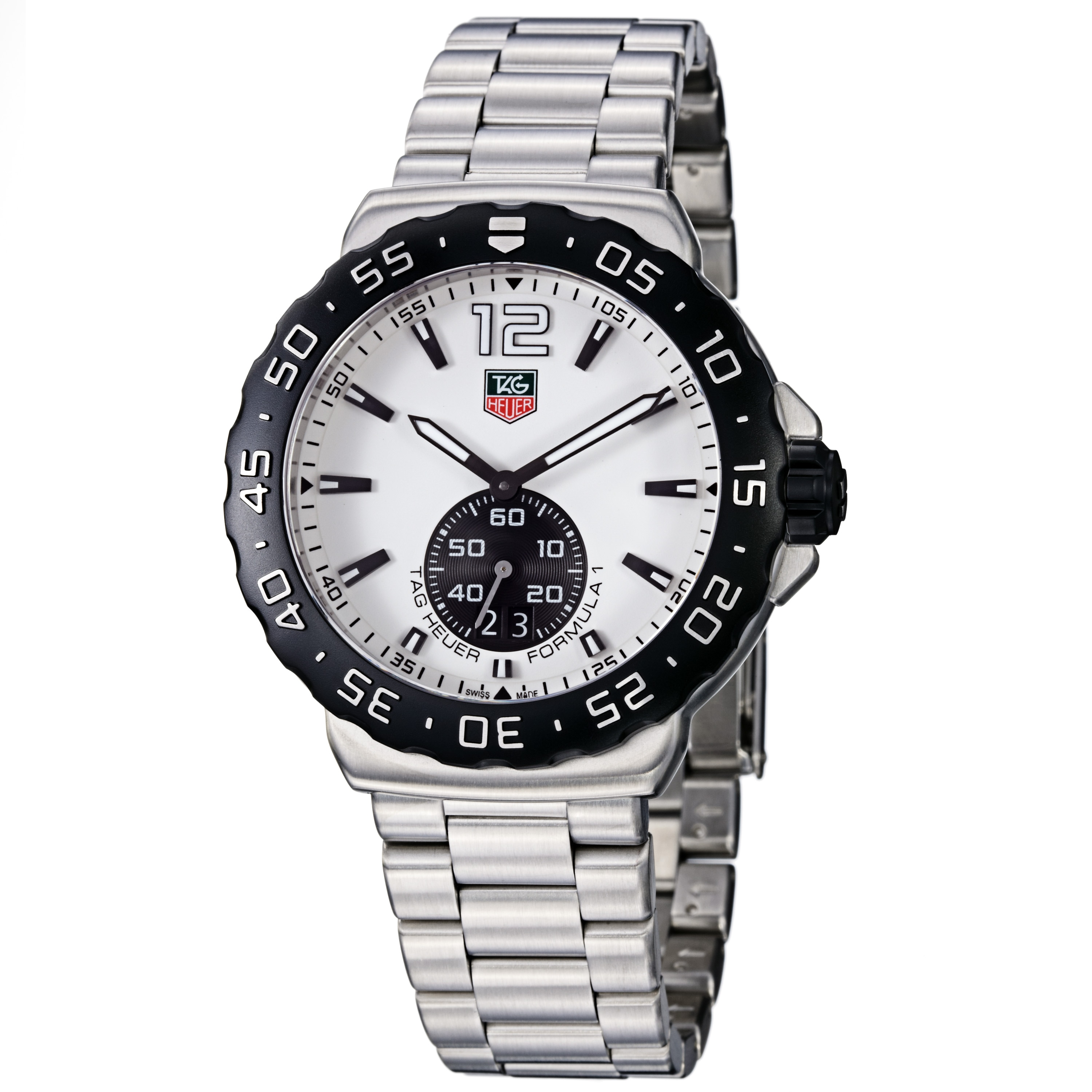 Tag Heuer Men's WAU1111.BA0858 'Formula 1' White Dial Stainless Steel Watch