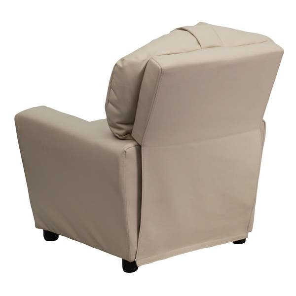 Remarkable Shop Flash Furniture Contemporary Beige Vinyl Kids Recliner Pabps2019 Chair Design Images Pabps2019Com