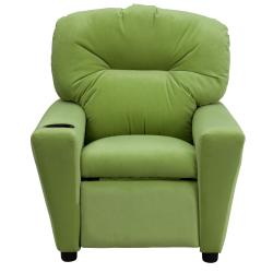 Flash Furniture Contemporary Avocado Microfiber Kids Recliner with Cup Holder - Thumbnail 2