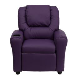 ... Contemporary Purple Vinyl Kids Recliner with Cup Holder and Headrest  sc 1 st  Overstock.com & Contemporary Purple Vinyl Kids Recliner with Cup Holder and ... islam-shia.org