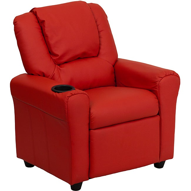 FLASH Furniture Contemporary Red Vinyl Kids Recliner with...