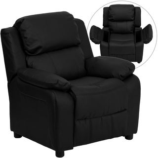 Deluxe Heavily Padded Contemporary Leather Kid's Recliner with Storage Arms|https://ak1.ostkcdn.com/images/products/6702518/P14254580.jpg?_ostk_perf_=percv&impolicy=medium