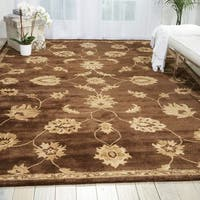 Nourison Hand-tufted Superlative Brown Rug (7'6 x 9'6) - 7'6 x 9'6