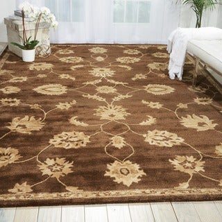 Nourison Hand-tufted Superlative Brown Rug (8' x 11')