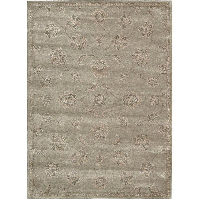 Nourison Hand-tufted Superlative Grey Rug (7'6 x 9'6) - Thumbnail 0