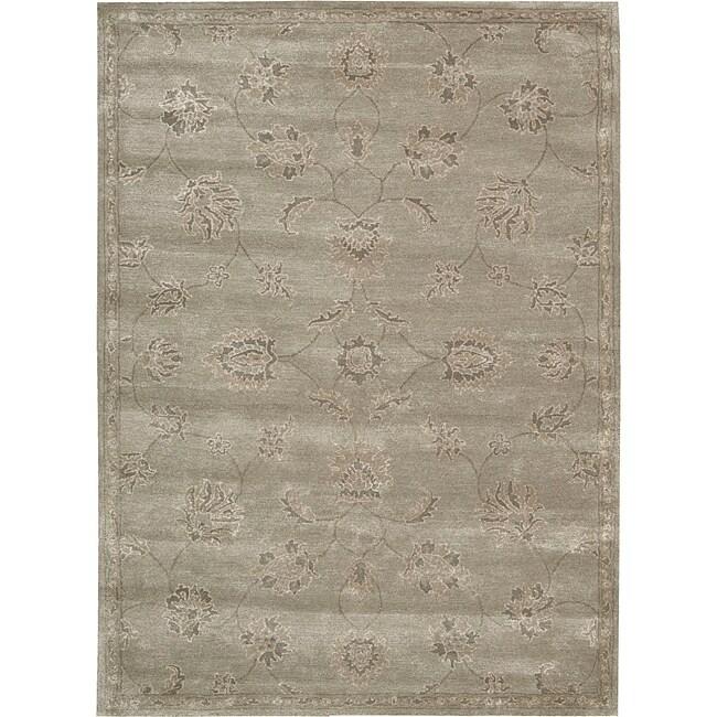 Nourison Hand-tufted Superlative Grey Rug ( 5'6 x 7'5 )