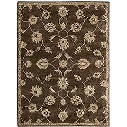 Nourison Hand-tufted Superlative Brown Rug (3'6 x 5'6)