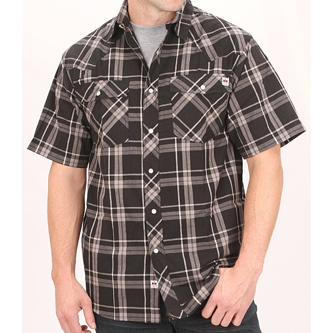 Farmall IH Men's Black Plaid Shirt