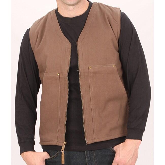 Farmall IH Men's Brown Canvas Sherpa Vest