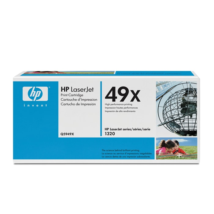 HP Q5949X 6000-page-yield Black Toner Non-refillable Cartridge