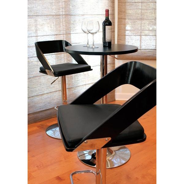 Vuno Mid-century Modern Wenge Wood Adjustable Barstool
