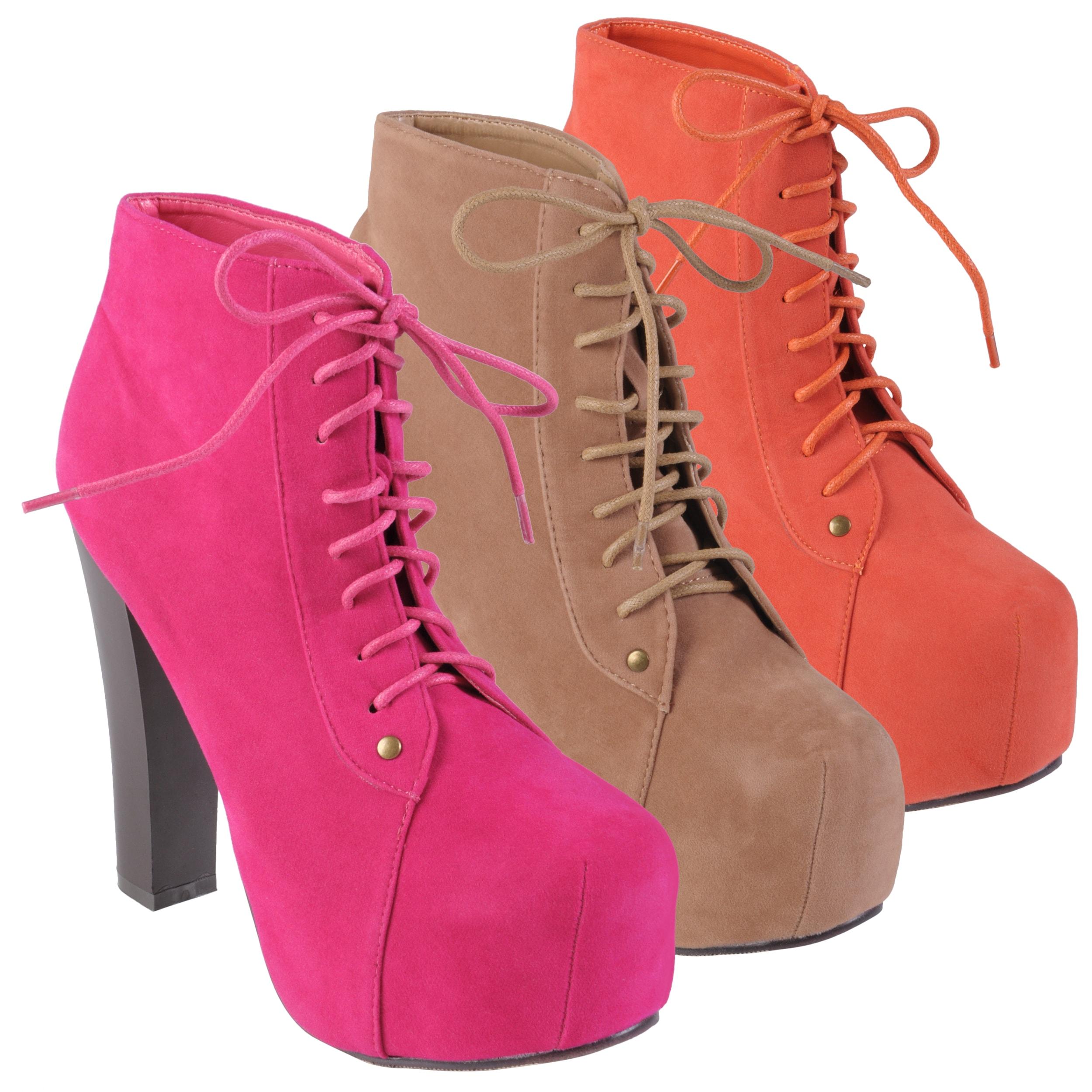 Journee Collection Women's 'Victoria-1' High Heel Sueded Booties