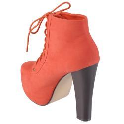 Journee Collection Women's 'Victoria-1' High Heel Sueded Booties - Thumbnail 1