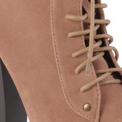 Journee Collection Women's 'Victoria-1' High Heel Sueded Booties - Thumbnail 2