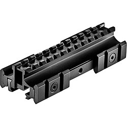 AR Flat Top Riser Mount with Additional Rails
