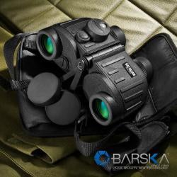 Barska 8x30 Battalion Binoculars with Internal Rangefinder and IR Compass - Thumbnail 2