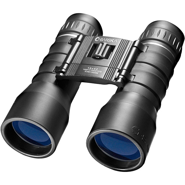 Barska 16x42 Lucid View Compact Black Binoculars with Carrying Case