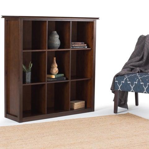 WYNDENHALL Stratford Auburn Brown 9 Cube Bookcase & Storage Unit