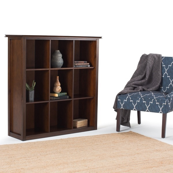 WYNDENHALL Stratford Auburn Brown 9 Cube Bookcase Amp Storage Unit