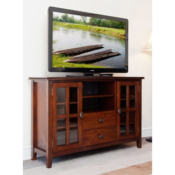 tall console cabinet wyndenhall stratford collection tv stand overstock 26994