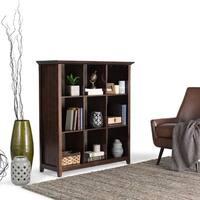 WyndenHall Normandy Pine Wood 9-cube Bookcase Storage Unit