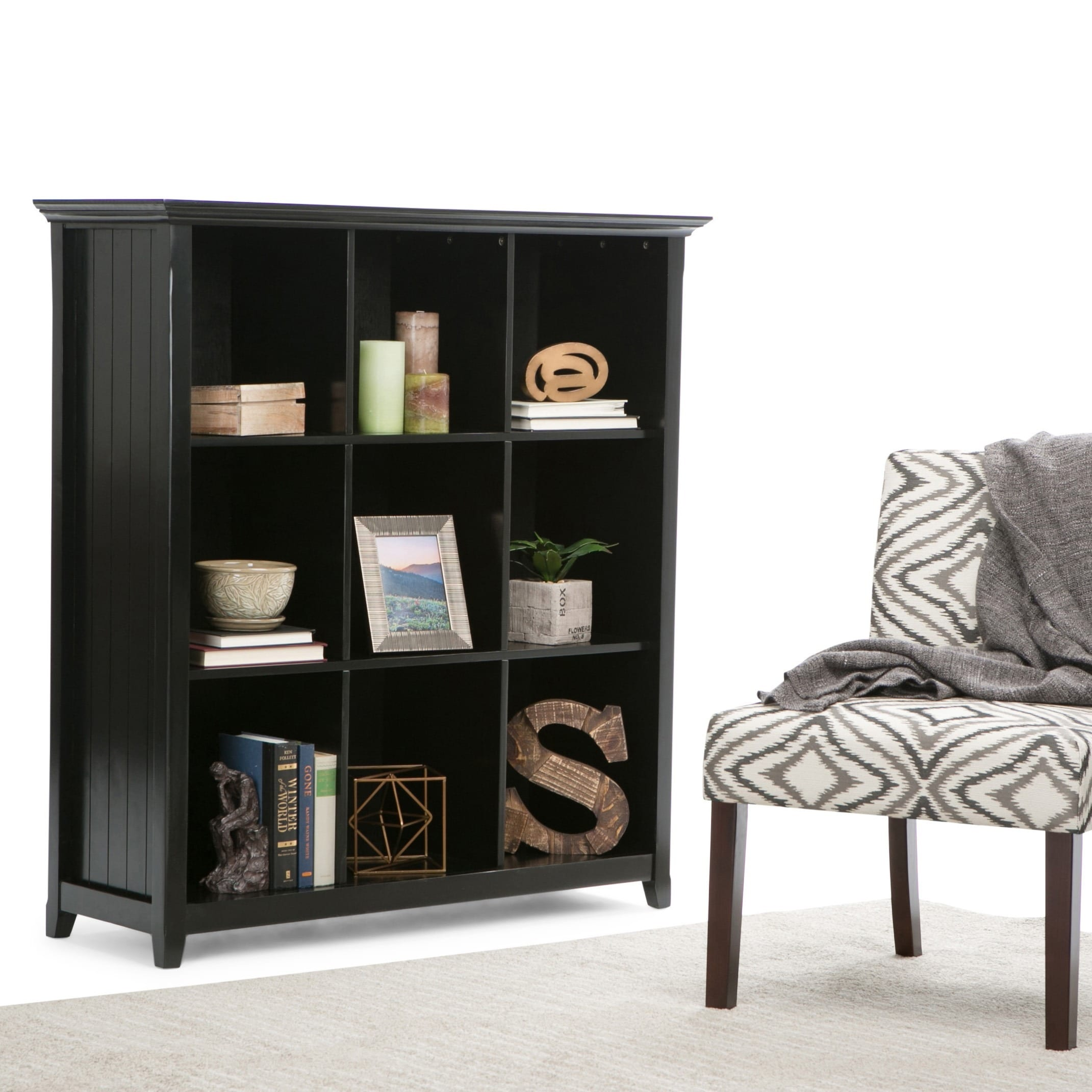 wyndenhall normandy 9 cube bookcase storage unit ebay. Black Bedroom Furniture Sets. Home Design Ideas