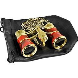 Barska 3x25 'Blueline' Red/ Gold Opera Binoculars