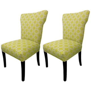 Bella Citrus Wing Back Chairs (Set of 2)
