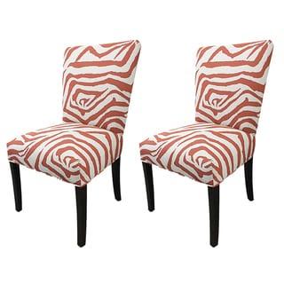 Julia Zebra Fan Back Chairs (Set of 2)