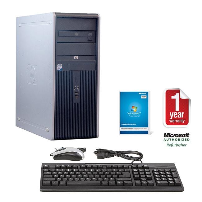 HP Compaq DC7900 Intel Core 2 Duo 2.66GHz CPU 4GB RAM 750GB HDD Windows 10 Pro Minitower Computer (Refurbished)