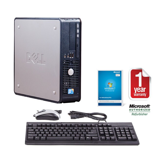 Dell Optiplex 760 Intel Core 2 Duo 2.53GHz CPU 2GB RAM 500GB HDD Windows 10 Pro Small Form Factor Computer (Refurbished)
