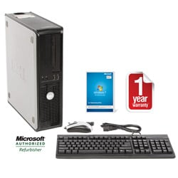 Dell Optiplex 755 Intel Core 2 Duo 2.66GHz CPU 4GB RAM 750GB HDD Windows 10 Pro Desktop Computer (Refurbished)