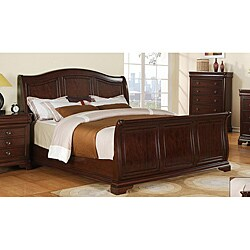 picket house furnishings conley cherry queen sleigh bed