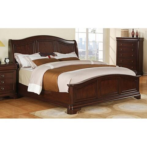 Gracewood Hollow Bujalski Cherry King Panel Bed