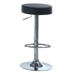 Black/ Chrome Metal Hydralic Lift Barstools (Set of 2)